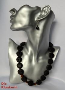 N_ES_K_Go-MA 49,5cm Lava-Tigerauge Herz-und Perlenform 20x20x10mm
