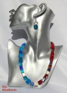 R_GL_K-Si-MA 46,5cm rot u. blaue Glaswürfel