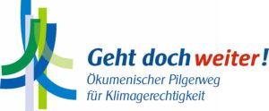 Logo: Geht doch weiter! Ökumenischer Pilgerweg für Klimagerechtigkeit